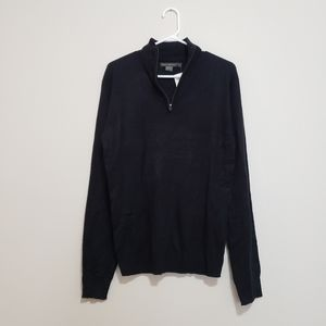 French Connection knit 1/4 quarter zip sweater